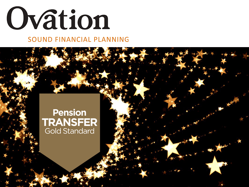 The Pension Transfer Gold Standard logo awarded to Ovation